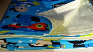 "Flannel Baby Blanket for Nurse Lucia ""It's a Boy"""