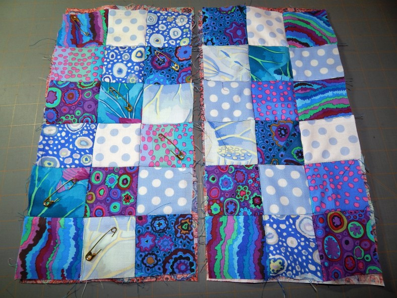 Pinned Quilt Sandwich